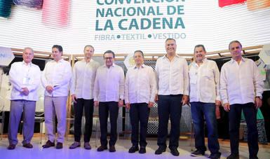 El Secretario de Economía inauguró la Segunda Convención  Nacional de la Cadena Fibra-Textil-Vestido