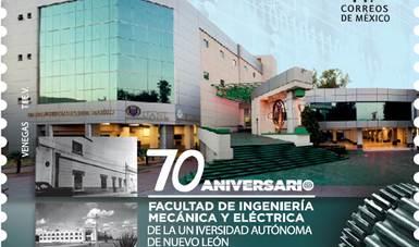 Participa SEPOMEX en la cancelación de estampilla conmemorativa de la Facultad de Ingeniería Mécánica  Eléctrica de la UANL
