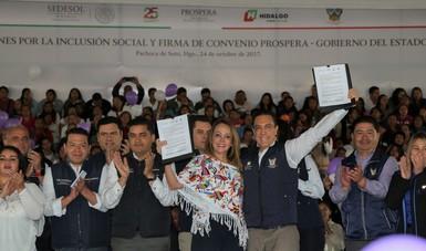 En Hidalgo se firma el primer convenio a nivel nacional para capacitar y certificar a las mujeres PROSPERA: PHO
