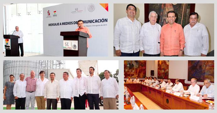 Gira de trabajo del Secretario de Economía en Tabasco y Campeche