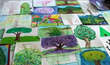 Recibe CONAFOR 18% más dibujos para Vamos a pintar un árbol