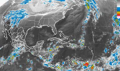 Se pronostican tormentas fuertes en Michoacán, Guerrero, Veracruz, Oaxaca y Chiapas.
