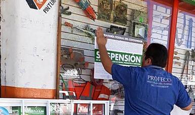Se colocaron sellos de suspensión de la actividad comercial en seis establecimientos de la región