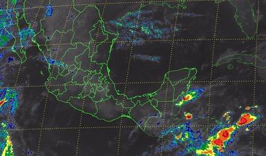 Se prevé tiempo estable en la mayor parte de México con probabilidad de tormentas muy fuertes en Chiapas.