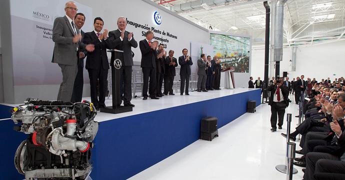 Ponen en marcha la planta de motores de Volkswagen