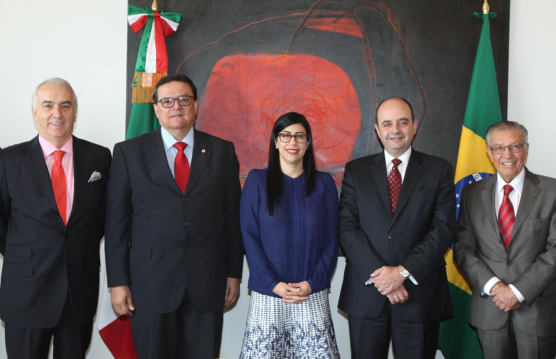 Subsecretaria Vanessa Rubio reconoció la labor de Marcos Leal Raposo Lopes, embajador de Brasil en México