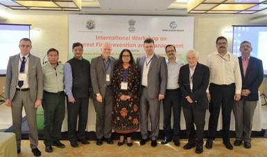 Promueve CONAFOR, en India, modelo de atención de incendios forestales