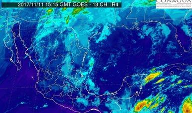 Se prevé viento de componente norte con rachas mayores a 70 km/h para el Istmo y el Golfo de Tehuantepec.