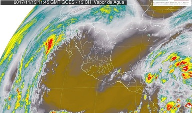 Se pronostican tormentas muy fuertes en Oaxaca, Chiapas, Tabasco, Quintana Roo y el sur de Veracruz.