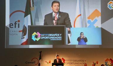 Subsecretario Javier García Bejos en la Reunión Anual del Centro Mexicano para la Filantropía