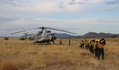 Reciben 270 combatientes capacitación en motobombas y equipo aéreo