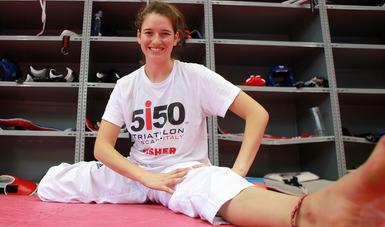La taekwondoín Paulina Armería Vecchi afina los últimos detalles previo al Campeonato Nacional de la especialidad