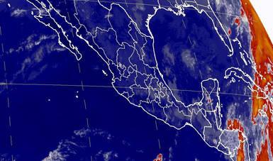 Se estiman nublados con tormentas fuertes en Veracruz, Tabasco, Oaxaca, Chiapas, Campeche y Quintana Roo.
