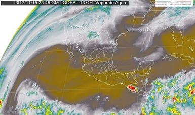 Para las próximas horas se prevén tormentas fuertes en Tabasco y Chiapas.