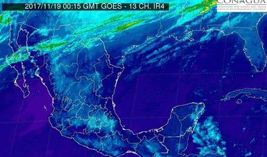 Esta noche se prevé evento de Norte con rachas mayores a 70 km/h en las costas de Tamaulipas.