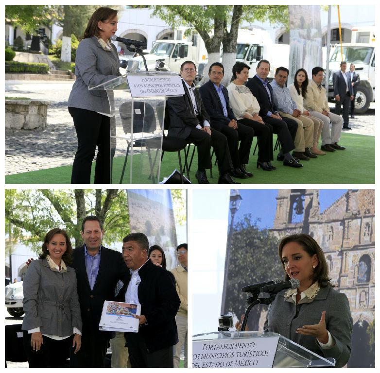 Claudia Ruiz Massieu en la entrega de Carpetas de Desarrollo de Productos Turísticos.