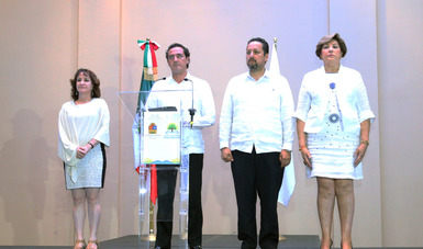 Palabras de Lic. Alberto Elías Beltrán, durante la conferencia de prensa sobre Cajas de Seguridad en Cancún, Quintana Roo