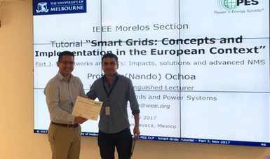 "Profesor de la Universidad de Melbourne, Australia, presentó la conferencia ""Smart Grids: Concepts and Implementation in the European Context""."