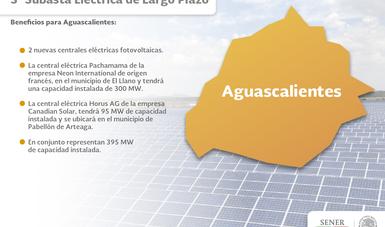 2 nuevas centrales fotovoltaicas para generación eléctrica en Aguascalientes, un beneficio de la Reforma Energética