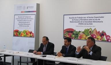 Reunión de Trabajo con el sector Exportador de Frutas y Hortalizas sobre la FSMA