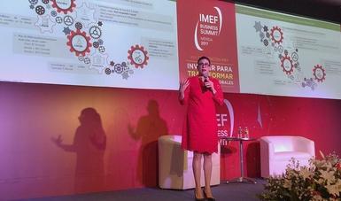 Subsecretaria Vanessa Rubio en el marco de  la XLV Convención del Instituto Mexicano de Ejecutivos de Finanzas (IMEF)