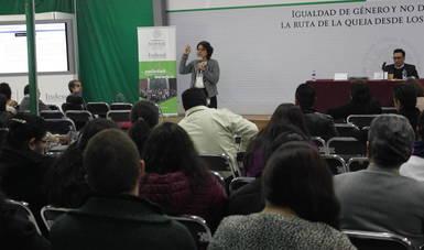 Capacitan a personal del Indesol en materia de igualdad de género y no discriminación