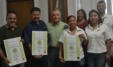 ENTREGA PROFEPA 3 CERTIFICADOS AMBIENTALES EN COLIMA