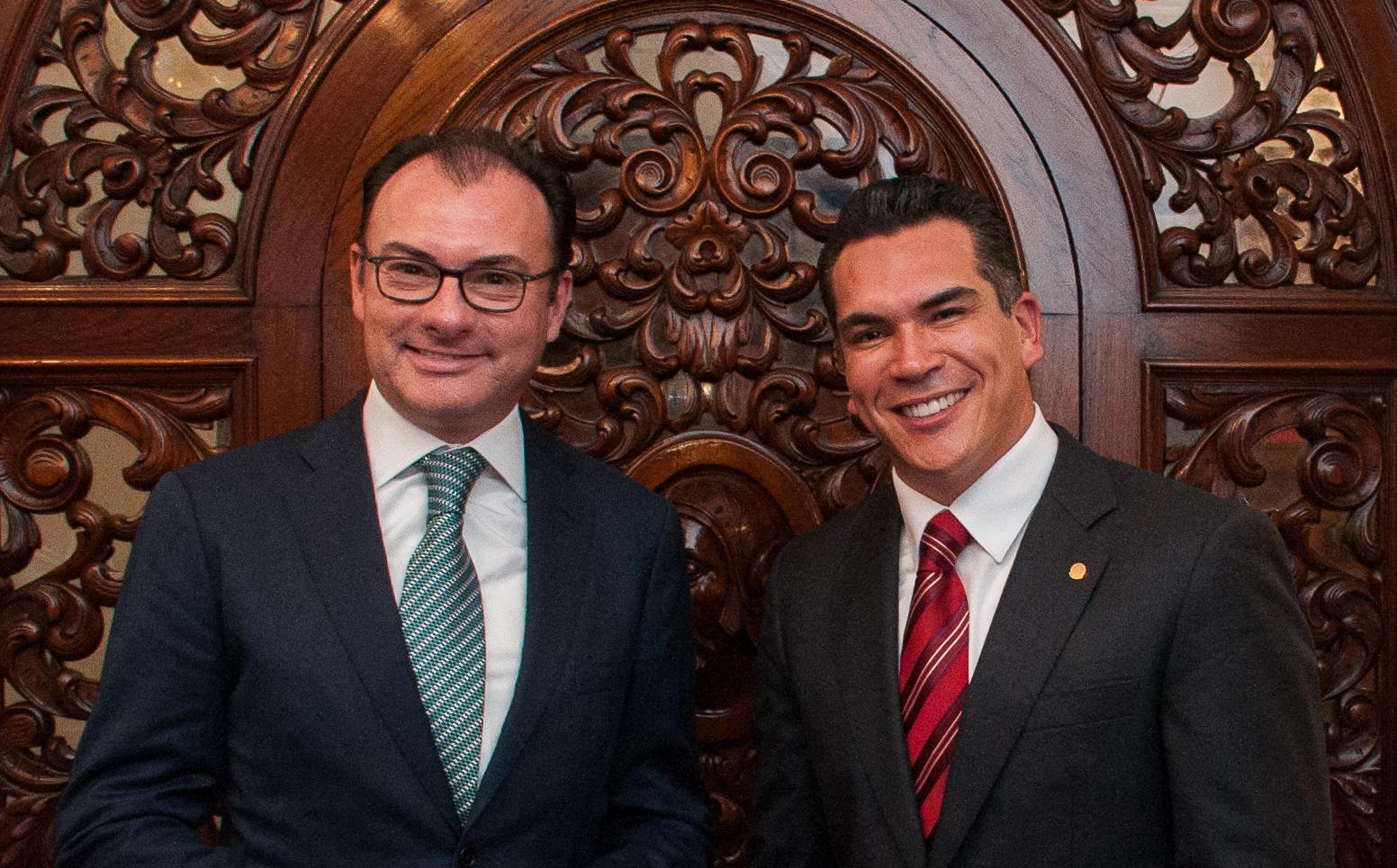 Luis Videgaray con el Gobernador electo de Campeche Alejandro Moreno