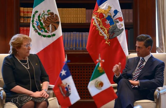 Visita de Estado que la Presidenta de Chile, Michelle Bachelet, realiza a México.
