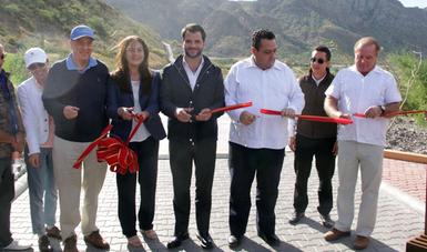 Acompañado por el gobernador de Baja California Sur, Carlos Mendoza Davis, Pacchiano Alamán inauguró uno de los complejos turísticos desarrollados en Loreto, el Campo de Golf Villa del Palmar, bajo estrictas normas ambientales.