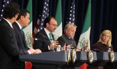 Mensaje a medios del Canciller Luis Videgaray en el marco del Segundo Diálogo de Alto Nivel sobre Combate al Crimen Transnacional
