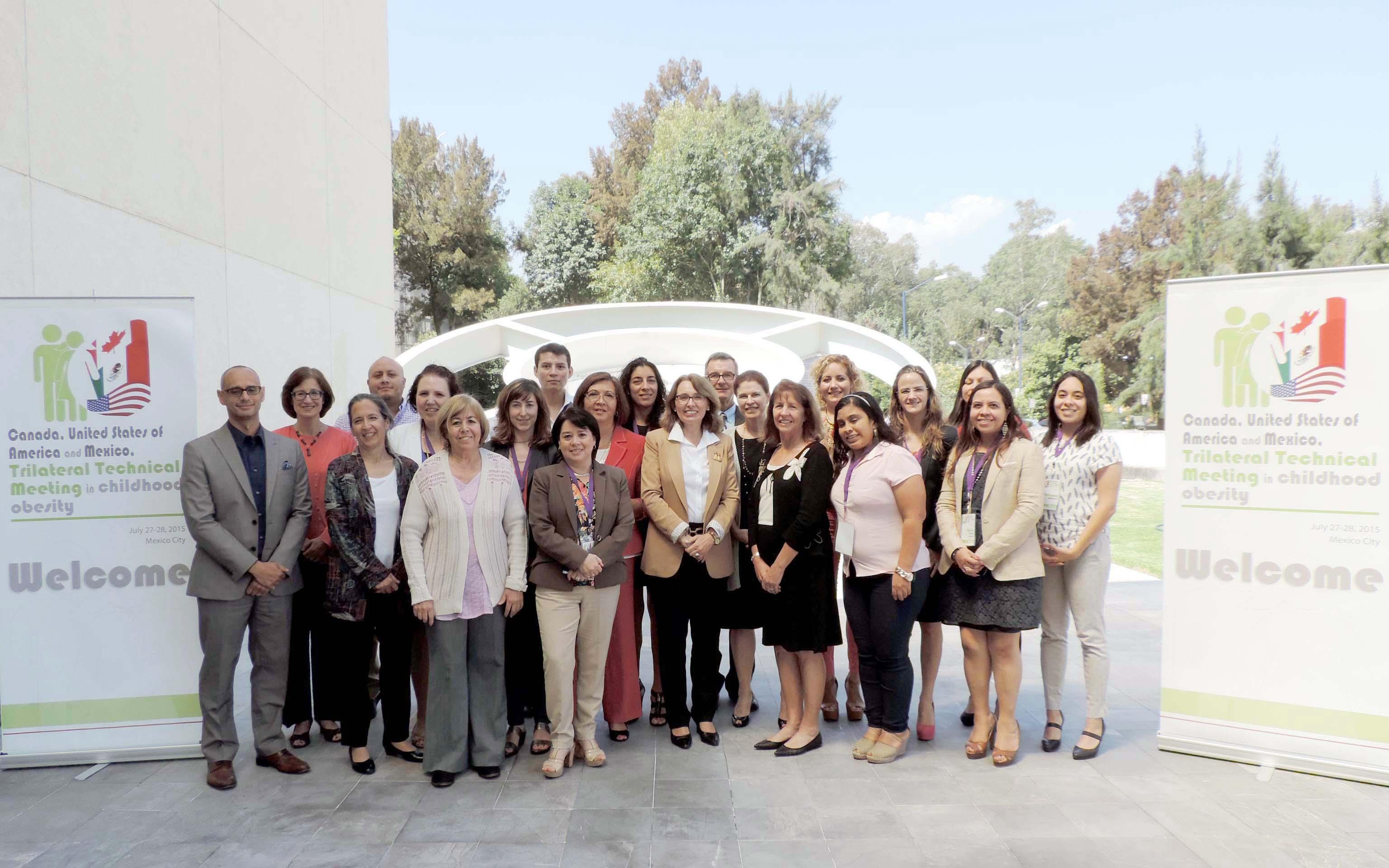 El Instituto Nacional de Medicina Genómica fue sede de la  Reunión Técnica Trilateral en Obesidad Infantil