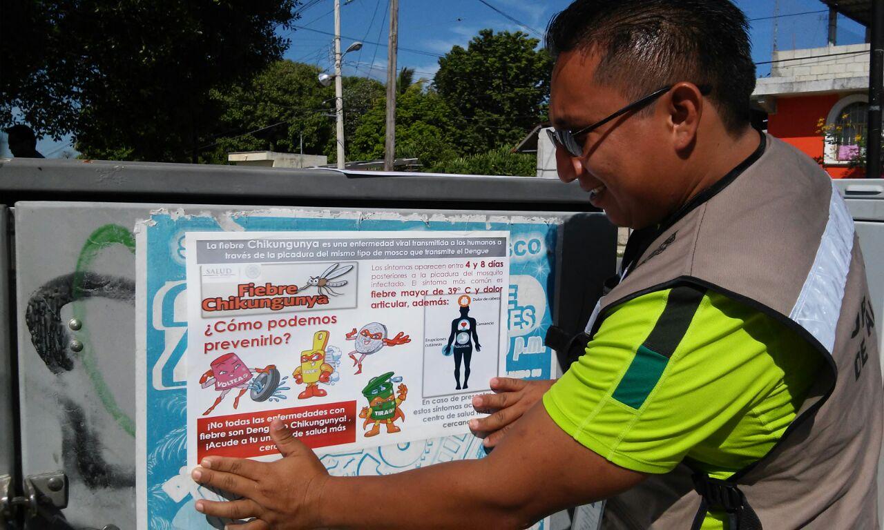 Refuerzan las acciones de prevención y control del dengue y chikungunya, en el estado de Campeche