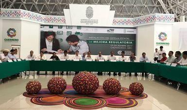 Firma de Convenio para implementar la política de Mejora Regulatoria en el estado de Guerrero