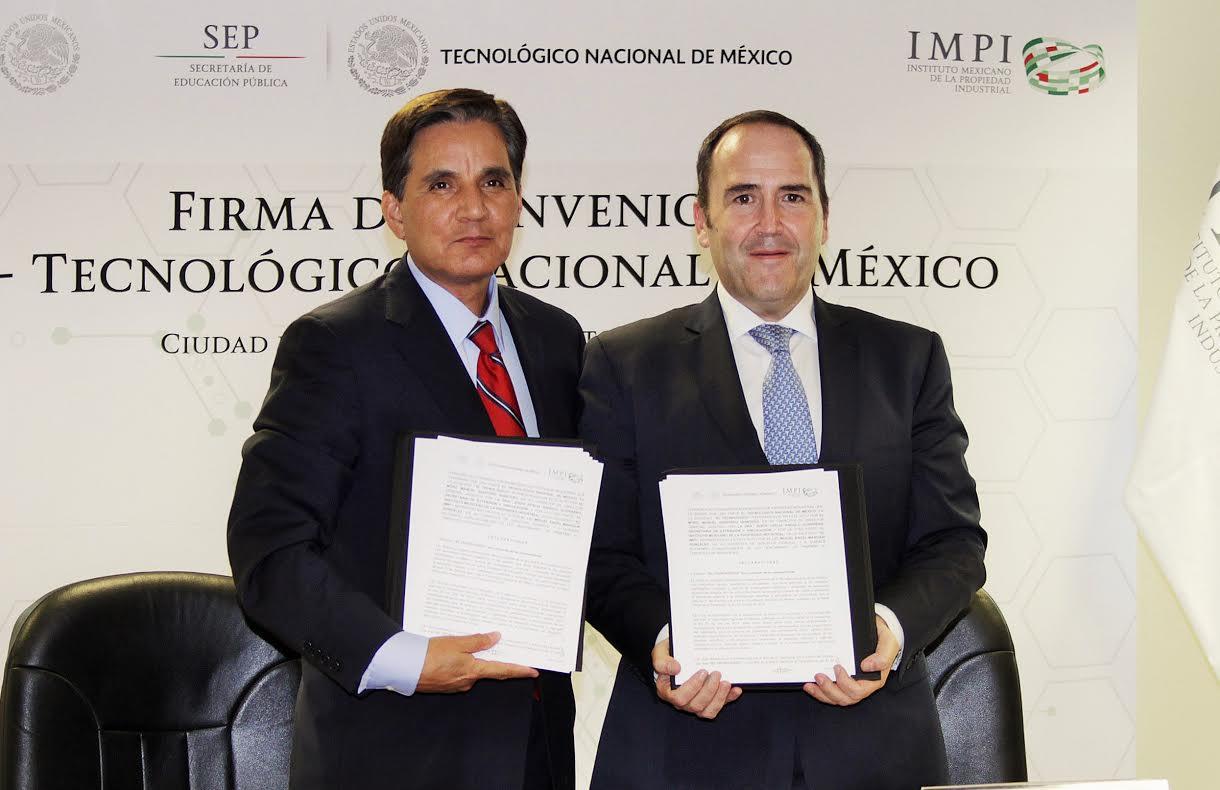 Firman Convenio de Colaboración IMPI y Tecnológico Nacional de México.