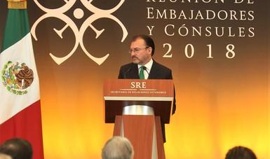 Versión estenográfica del discurso del Canciller Luis Videgaray Caso en la XXIX Reunión de Embajadores y Cónsules