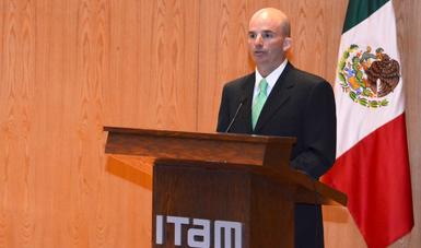 El secretario González Anaya en el Seminario de Perspectivas Económicas 2018.