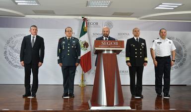 MENSAJE A MEDIOS DEL COMISIONADO NACIONAL DE SEGURIDAD, RENATO SALES HEREDIA