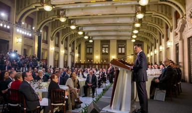 """""""México es visto como un prominente actor en el escenario internacional, por su dimensión territorial y su peso demográfico, por su importancia económica y sus fortalezas culturales, por el impacto potencial de sus acciones u omisiones en el mundo"""": EPN"""