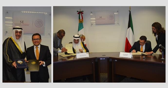 Firman México y Kuwait acuerdo para promover y proteger inversiones
