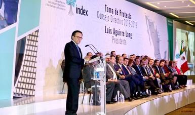 El Secretario Ildefonso Guajardo tomó protesta a la mesa directiva de INDEX