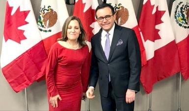 Se reúne Secretario de Economía con la Ministra de Asuntos Exteriores de Canadá