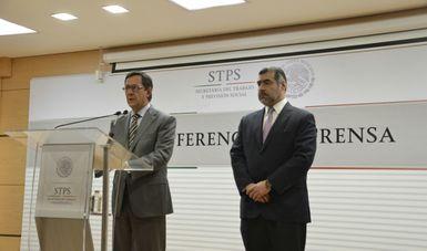 Conferencia de prensa del Secretario del Trabajo y del Directo del Infonacot