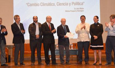 Plática a cargo del Dr. Mario Molina y un panel relacionado con el papel y los retos que enfrenta el INEEL ante el cambio climático.