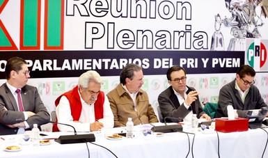 El Secretario de Economía asistió a la XII Reunión Plenaria del PRI y PVEM en el Senado