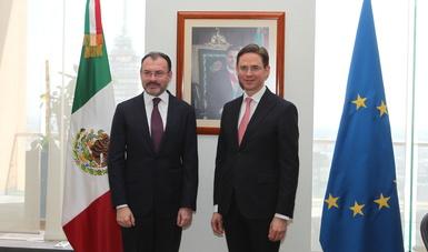 Se reúnen el Canciller y el Vicepresidente de la Comisión Europea para el Fomento del Empleo, Crecimiento, Inversión y Competitividad