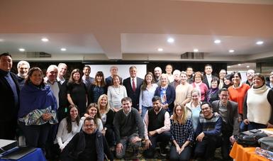 El director General del Conafe, Ing. Simón Villar Martínez realizó un encuentro de intercambio de experiencias del modelo ABCD con funcionario del ministerio de educación de Argentina.
