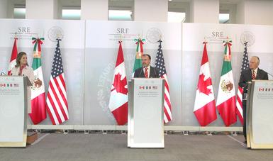 Mensaje a medios del Canciller Luis Videgaray,  en la Reunión de Ministros de Relaciones Exteriores de América del Norte