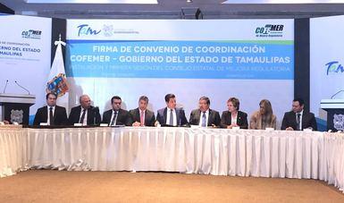 La COFEMER y el Gobierno de Tamaulipas firman Convenio para implementar la política de Mejora Regulatoria en la entidad
