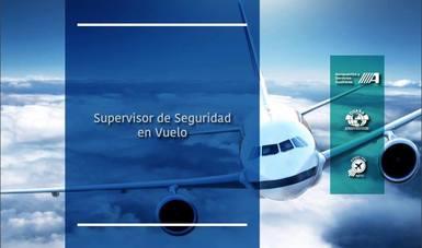 Cartel promocional del curso Supervisor de Seguridad en Vuelo